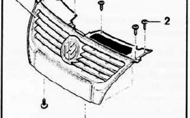 Замена решетки радиатора на VW Passat B6