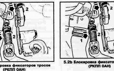 Регулировка привода переключения передач VW Passat B6