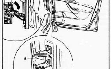 Снятие и замена дверей на VW Passat B6