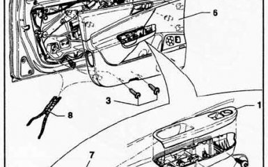 Снятие обшивки двери VW Passat B6