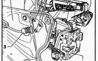 Снятие замка двери VW Passat B6