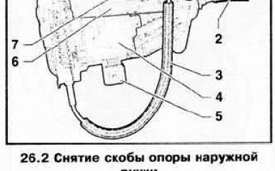 Замена скобы опоры наружной ручки двери VW Passat B6