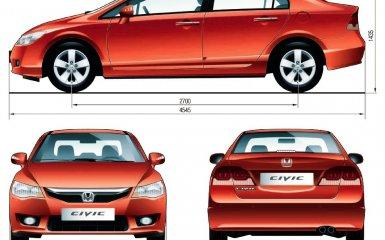 Технические характеристики Honda Civic 8, 2006 - 2012 г.в.