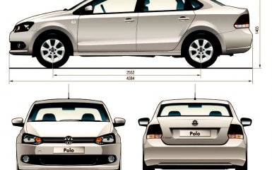 Технические характеристики VW Polo sedan, 2010 - 2015 г.в.