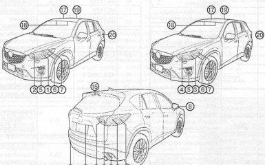 Замена ламп Mazda CX-5 (KE), 2011 - 2017