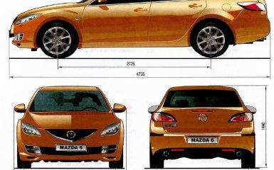 Технические характеристики Mazda 6 (GH), 2007 - 2012 г.в.