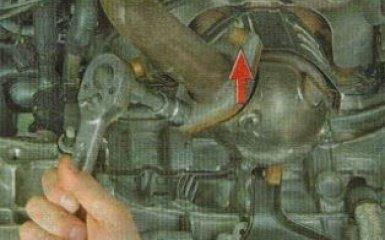 Замена катколлектора Kia Rio 3