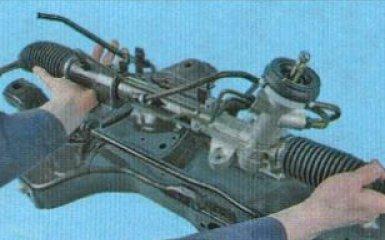 Замена рулевой тяги Kia Rio 3