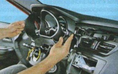Снятие блока управления кондиционером Kia Rio 3, 2011 - 2017 г.в.