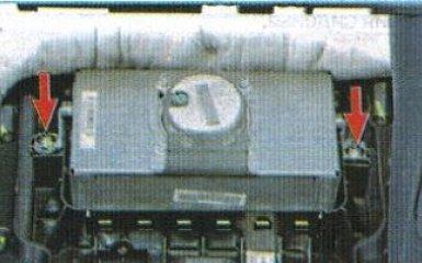 Снятие подушки безопасности пассажира Kia Rio 3, 2011 - 2017 г.в.