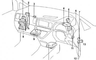 Предохранители и реле Toyota Wish (XE10), с 2003 г.в.
