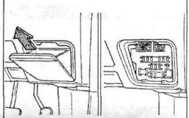 Предохранители и реле Toyota Carina (T210), 1996 - 2001 г.в.
