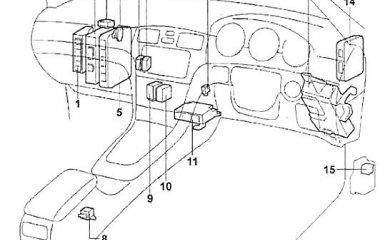 Предохранители и реле Toyota Windom (V30), 2001 - 2006 г.в.