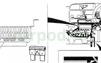 Предохранители и реле Mitsubishi Canter, 1993 - 2002 г.в.