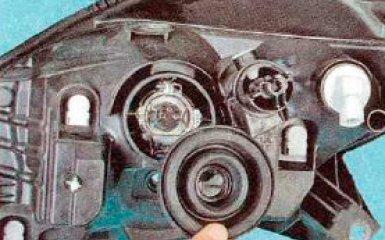 Замена ламп Renault Sandero, 2008 - 2014 г.в.