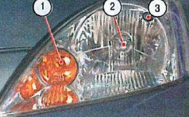 Замена ламп Mitsubishi Lancer 9 (CS), 2001 - 2007