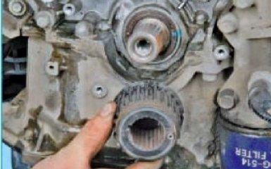 Замена сальников коленвала Hyundai Santa Fe (CM), 2006 - 2012