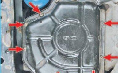 Замена уплотнения и поддона картера Hyundai Santa Fe (CM), 2006 - 2012 г.в.