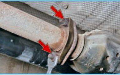Снятие каталитического нейтрализатора Hyundai Santa Fe (CM), 2006 - 2012