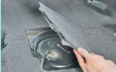 Снятие топливного бака Hyundai Santa Fe (CM), 2006 - 2012