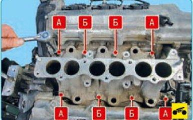 Снятие впускной трубы Hyundai Santa Fe (CM), 2006 - 2012