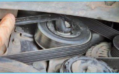 Замена ремня вспомогательных агрегатов Hyundai Santa Fe (CM), 2006 - 2012 г.в.