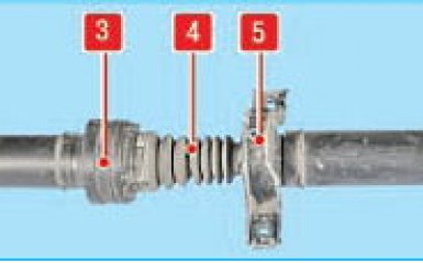 Снятие карданной передачи Hyundai Santa Fe 2 (CM), 2006 - 2012