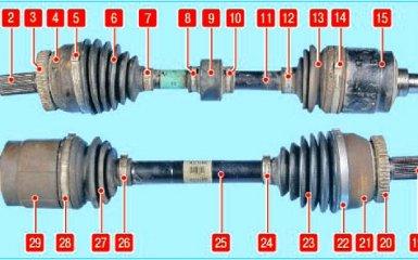 Приводы колес Hyundai Santa Fe 2 (CM), 2006 - 2012