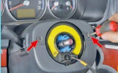 Снятие кожуха рулевой колонки Hyundai Santa Fe 2 (CM), 2006 - 2012