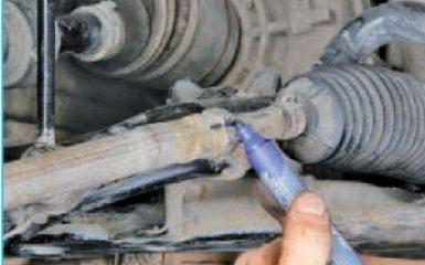 Замена рулевых наконечников Hyundai Santa Fe 2 (CM), 2006 - 2012