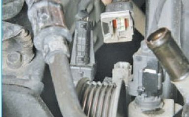 Замена датчика детонации Hyundai Santa Fe (CM), 2006 - 2012