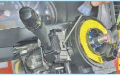 Замена подрулевых переключателей Hyundai Santa Fe (CM), 2006 - 2012