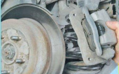 Замена задних тормозных дисков Hyundai Santa Fe 2 (CM), 2006 - 2012