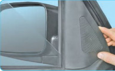 Снятие бокового зеркала Hyundai Santa Fe (CM), 2006 - 2012