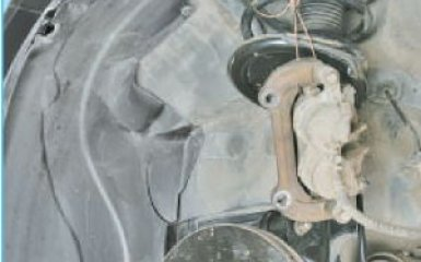 Замена передних тормозных дисков Hyundai Santa Fe 2 (CM), 2006 - 2012