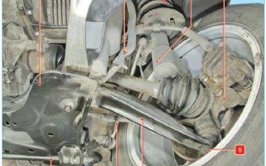 Передняя подвеска Peugeot 308 (T7)