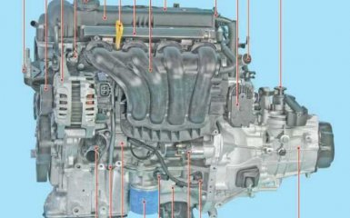 Двигатель 1,4 и 1,6 Hyundai Solaris 1