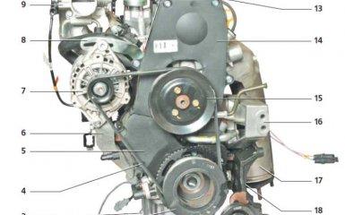 Двигатель (A15SMS) Daewoo Nexia N150