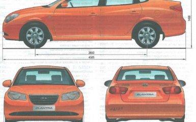 Технические характеристики Hyundai Elantra HD J4 (2006 - 2010 г.в.)