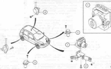 Антиблокировочная система ABS Chevrolet Aveo с 2002 по 2011 г.в.