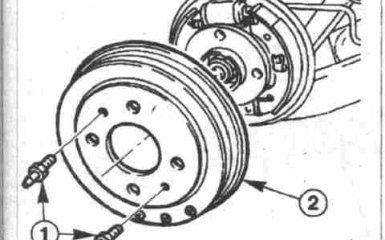 Замена задних тормозных колодок на Fiat Albea