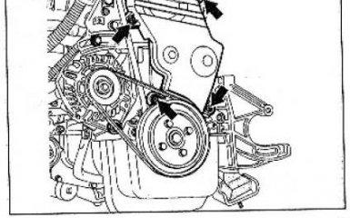 Ремень ГРМ (зубчатый ремень) Renault Megane / Scenic 1999 - 2003 гг. выпуска - снятие, установка и натяжение