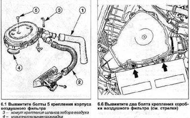 Воздушный фильтр Renault Megane / Scenic 1999 - 2003 гг. - снятие и установка