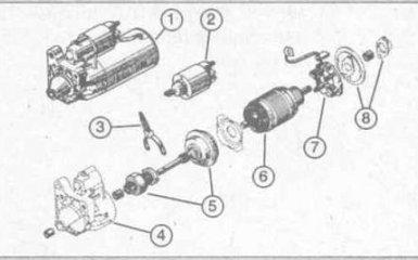 Снятие и установка стартера Ford Focus 1
