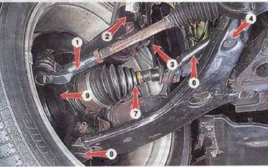 Передняя подвеска Mazda 3 (BK)