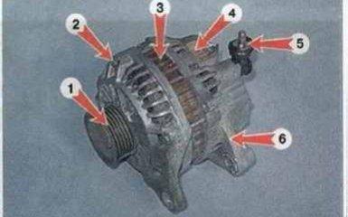 Генератор Mazda 3 с 2003 - 2009 гг.