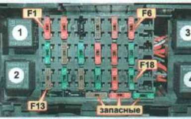 Блок предохранителей и реле Daewoo Nexia (N100) 1994 - 2002 г.в.