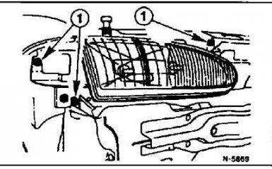 Фары и противотуманные фары Ford Mondeo с 1993 - 2000 гг. - снятие, замена и установка