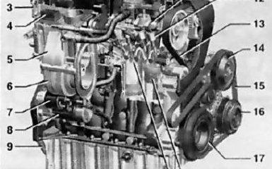 Двигатель Opel Astra H / Zafira B, 2004 - 2009 г.в.