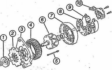 Генератор Audi A6 C5